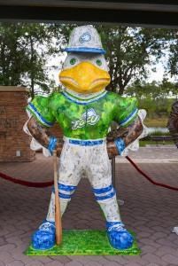 "Scott Guelcher's ""Azul Flies Around The Bases"" will be displayed at Alico Arena."