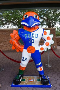 "Diana Rochez's ""Dunk City Azul"" will be displayed at Alico Arena."
