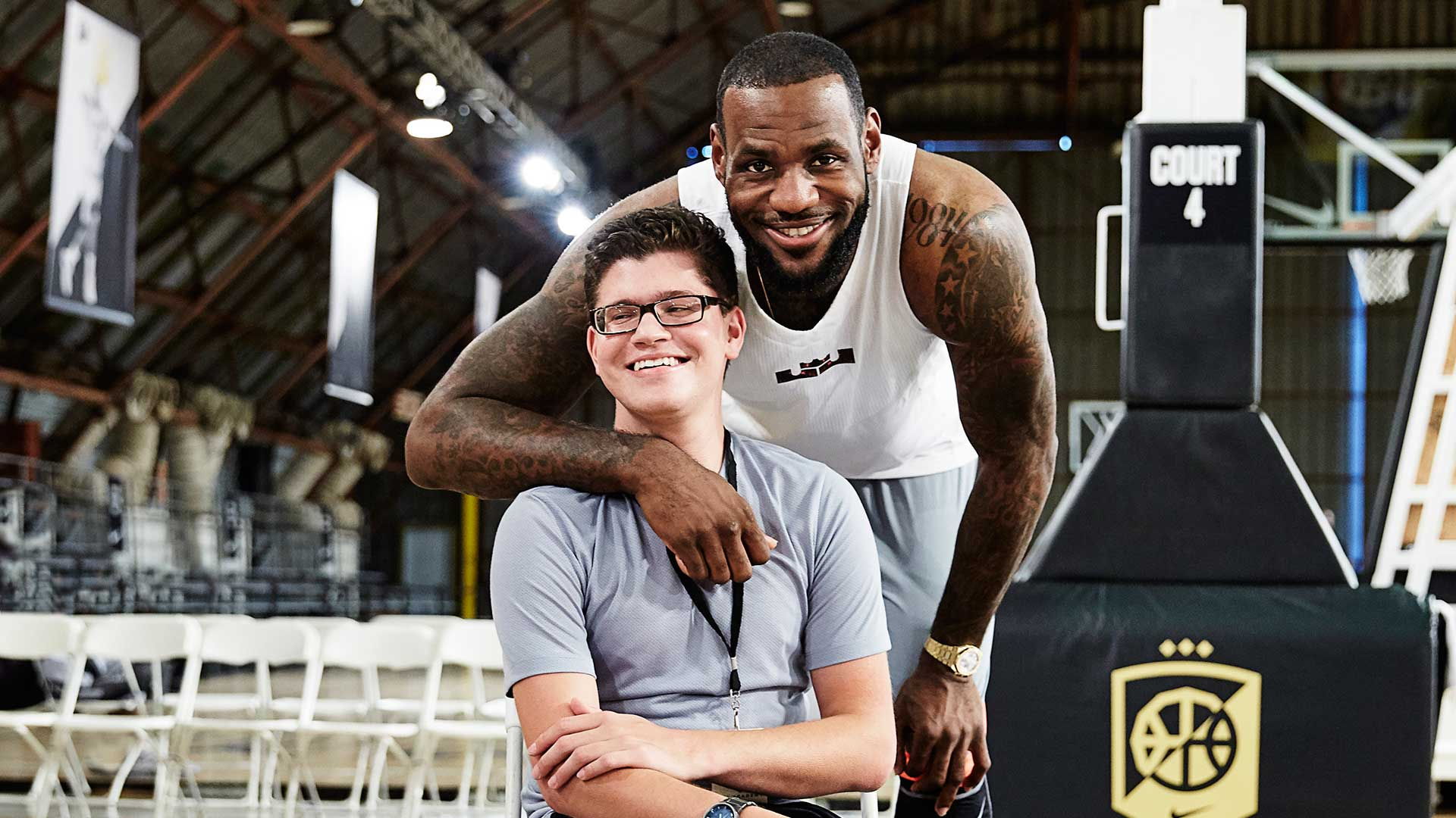 Matthew Walzer and LeBron James