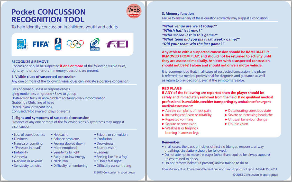 Concussion Pocket Guide