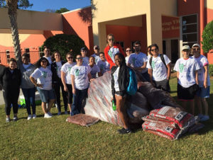 Volunteers did landscaping at the Bonita Springs YMCA.