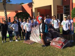 Volunteers did landscaping at the Bonita Springs YMCA.