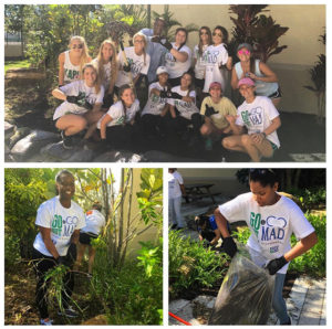 Volunteers planted a garden at PACE Center for Girls in Immokalee.