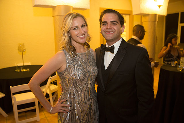Michael Nachef with his wife, Felicia, received the Young Professional of the Year Award
