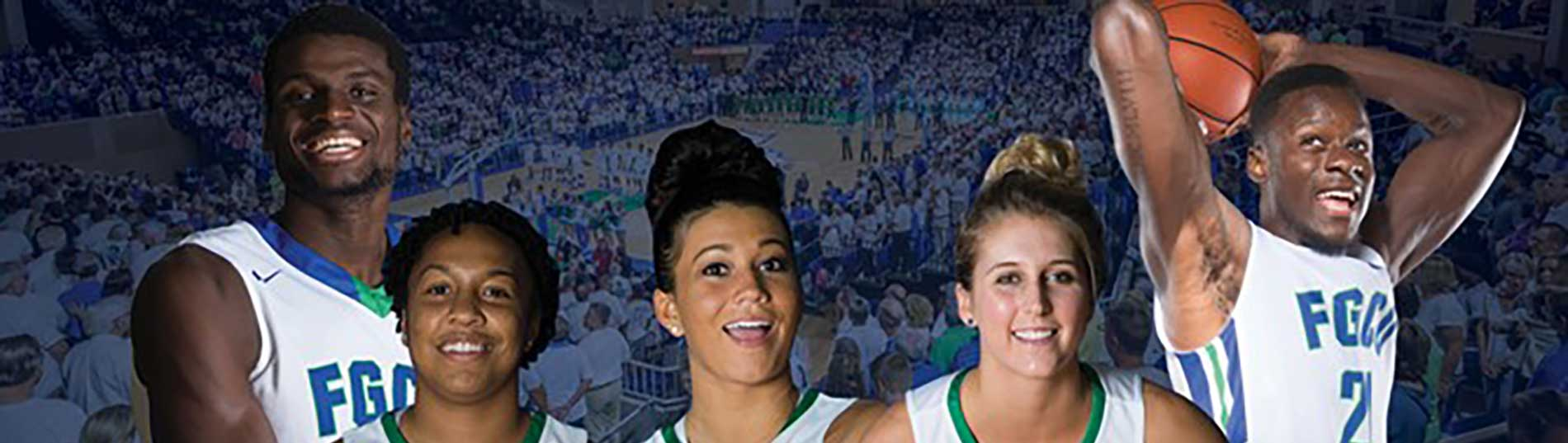 picture of FGCU basketball players
