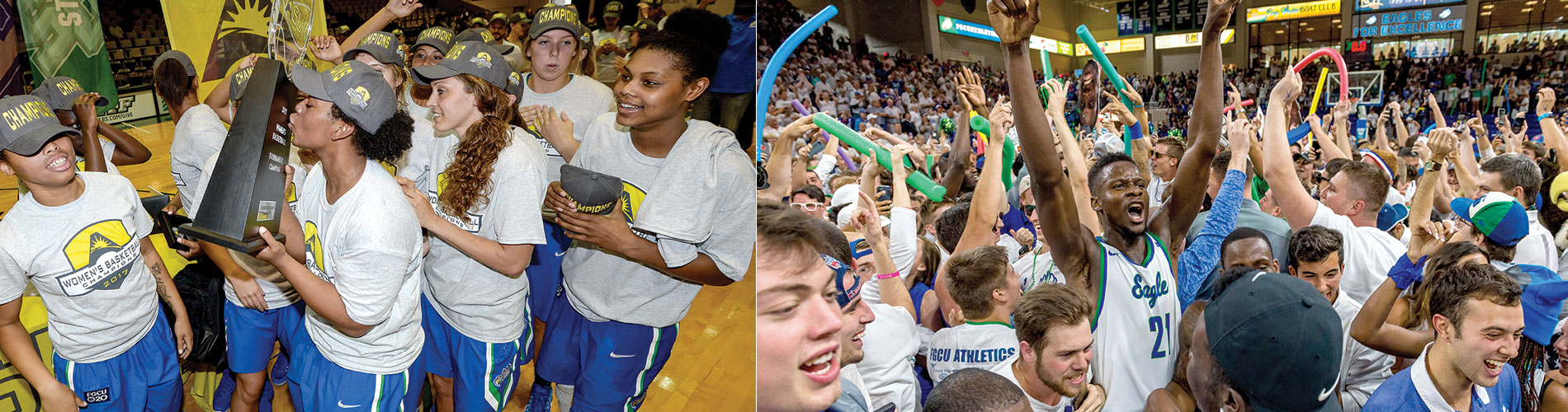 FGCU men's and women's basketball at the big dance.
