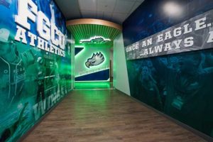 Part of the 11,000-square-foot-plus addition to Alico Arena