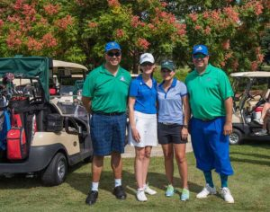 This is a photo of golfers at the FGCU Founder's Cup tournament.