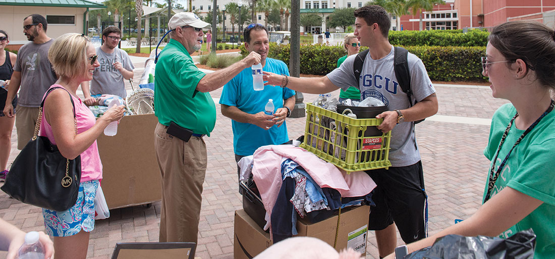 President Martin on Move In day.