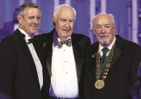 Blake Gable, President Roy McTarnaghan, President Mike Martin