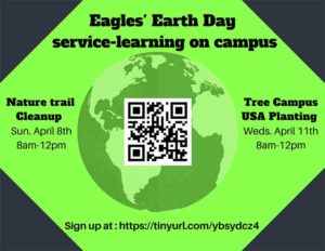 Image of flyer for Earth Day activities at FGCU
