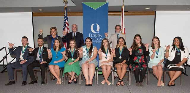 Photos shows FGCU's 2018 Hall of Fame students