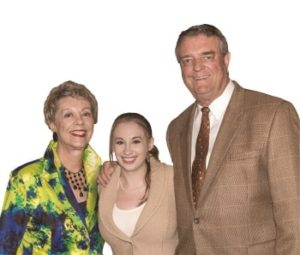 From left, Lynn Knupp, Taylor Toreno, '17, and Jim Knupp have built a close bond.