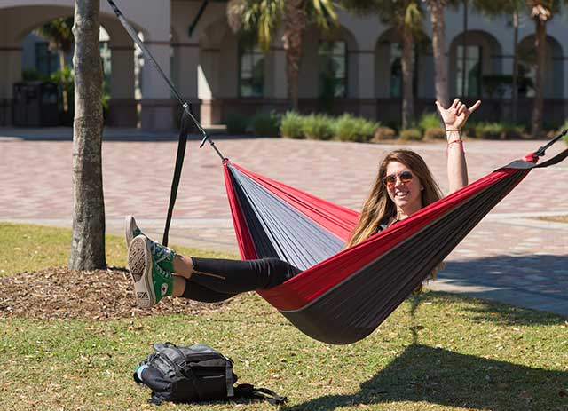 Photo shows Morgan Murray, who received a refund for her first-year, out-of-pocket FGCU tuition costs, compliments of the Soar in 4 program.