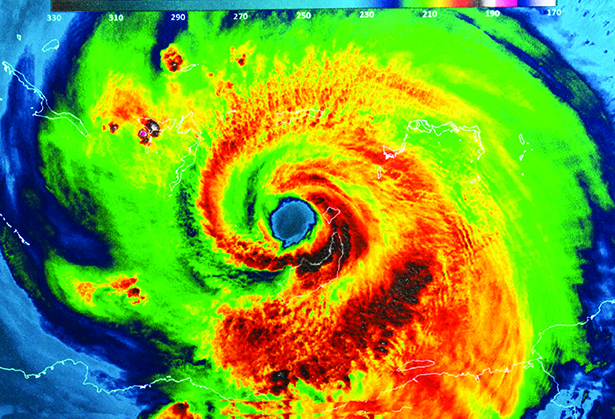 Heat image of Hurricane Irma