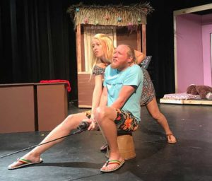 "Photos shows 2 FGCU students acting in the play ""Your Florida Fantasy."""