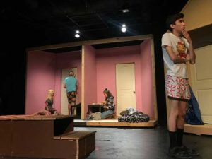 Photos shows actors in the play at TheatreLab at FGCU.