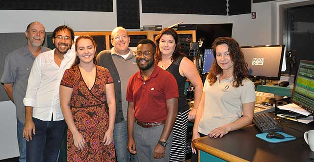 photo shows the news staff of WGCU-FM