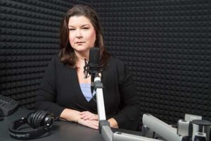 Photo shows Julie Glenn of WGCU-FM