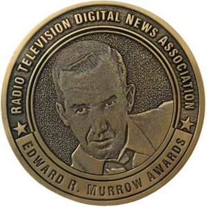 Photo shows Edward R. Murrow medallion
