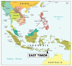 Locater map of East Timor