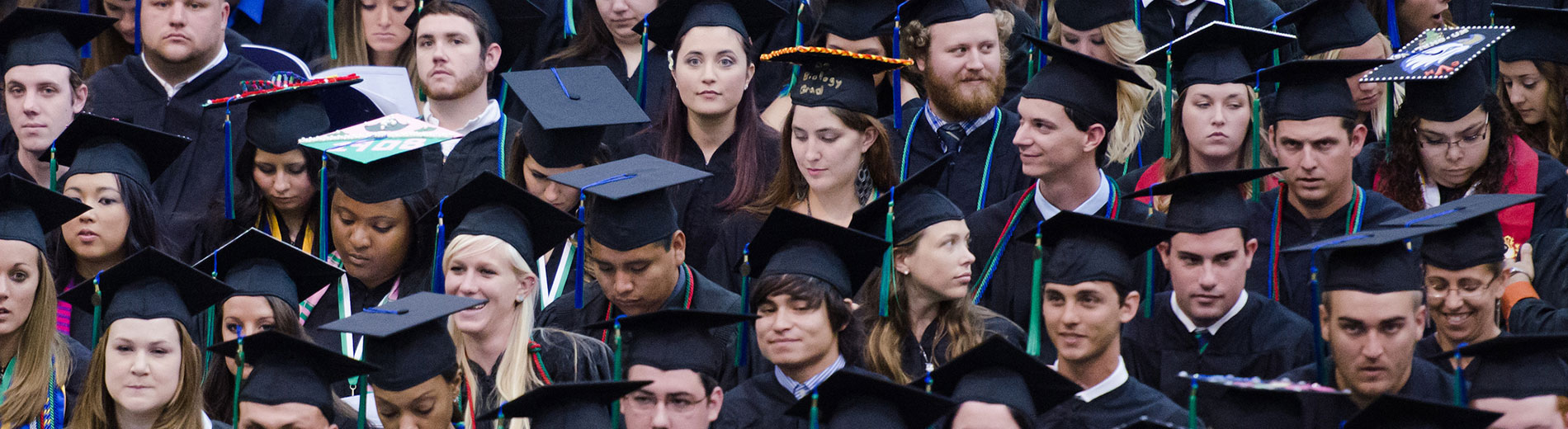 Photos of students at commencement