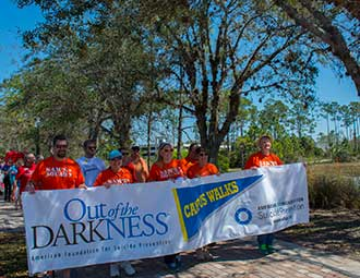 Campus walk promotes suicide prevention
