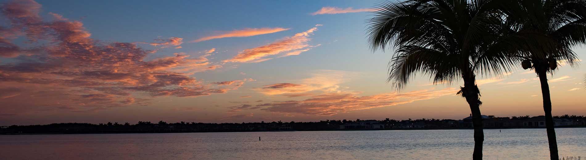 photo shows a florida sunrise
