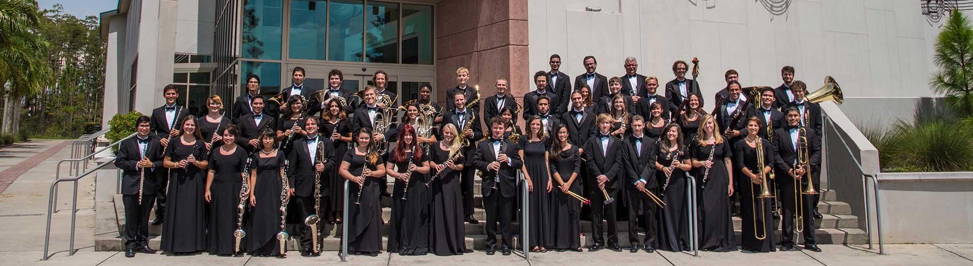 photo shows FGCU Wind Orchestra