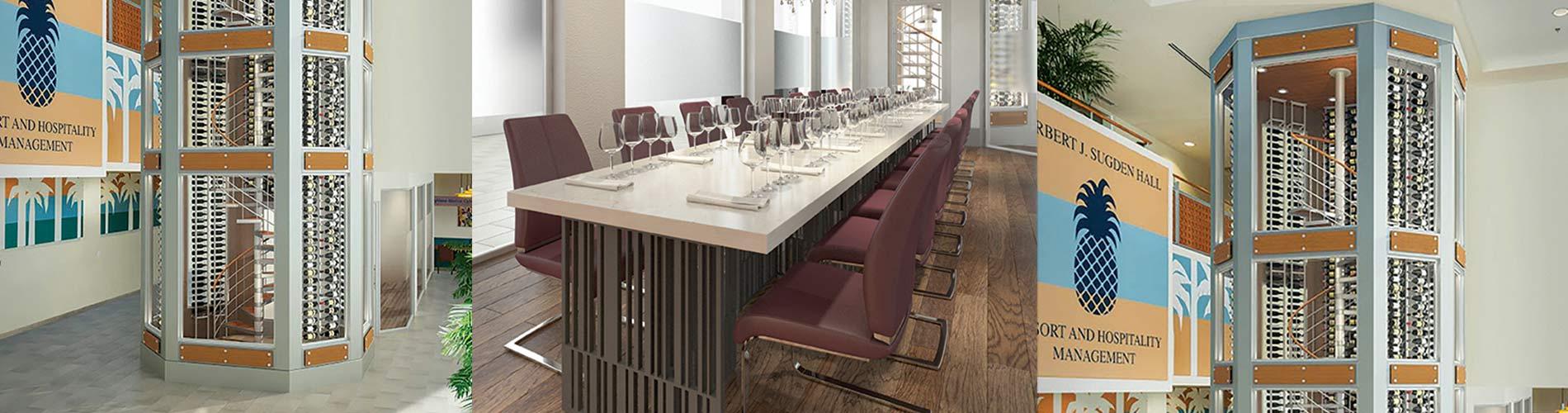 FGCU Wine Tower and Wine Room