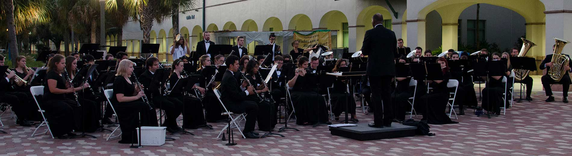 Photo shows the FGCU Wind Orchestra