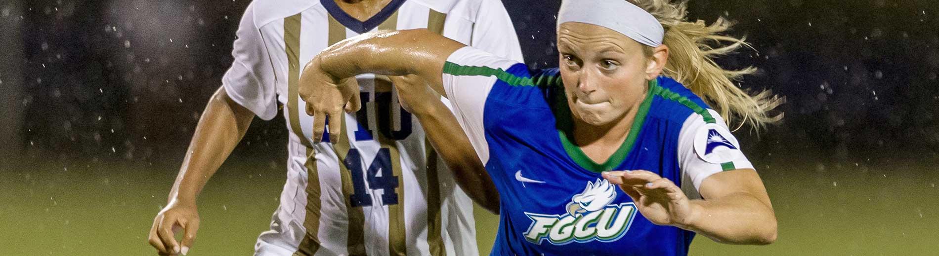 Photo shows FGCU soccer player Ashley Parks