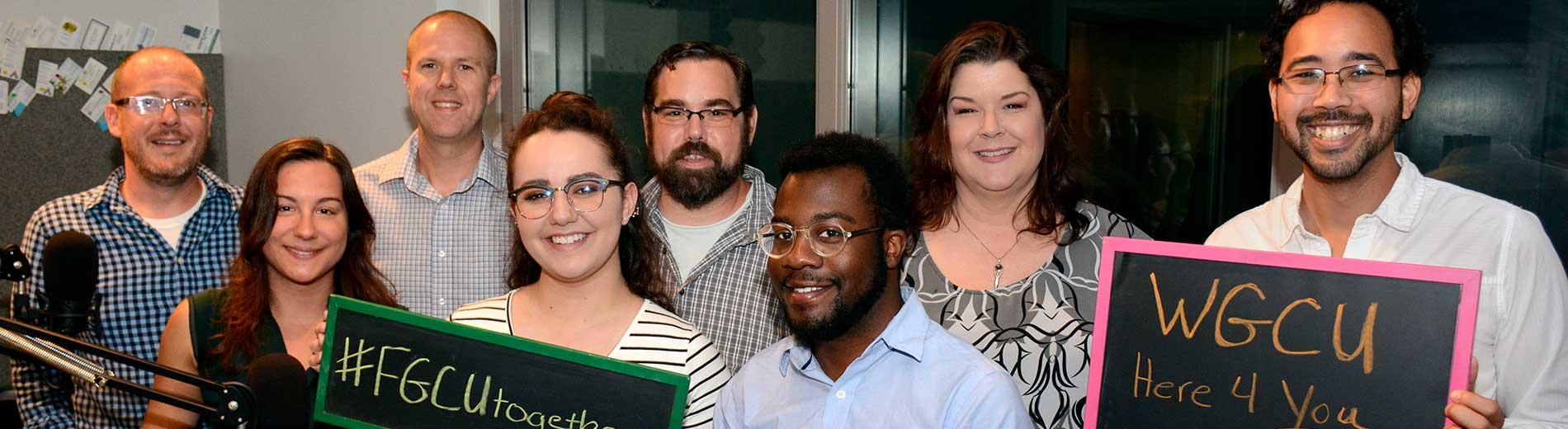 Photo shows WGCU staff