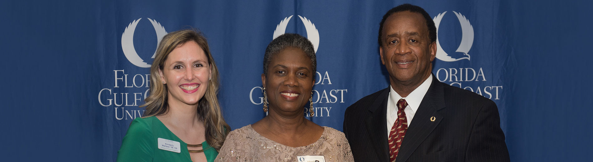 photo shows FGCU Alumni Award winners