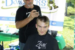 James Till has personally raised more than $1,800 for children's cancer research through FGCU's St. Baldrick's Day shave-a-thon.