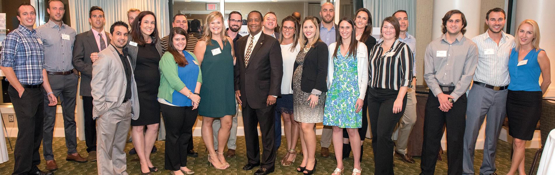 Tampa Alumni Chapter with President Bradshaw