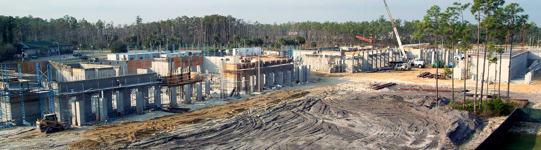 This is a photo showing construction of FGCU campus