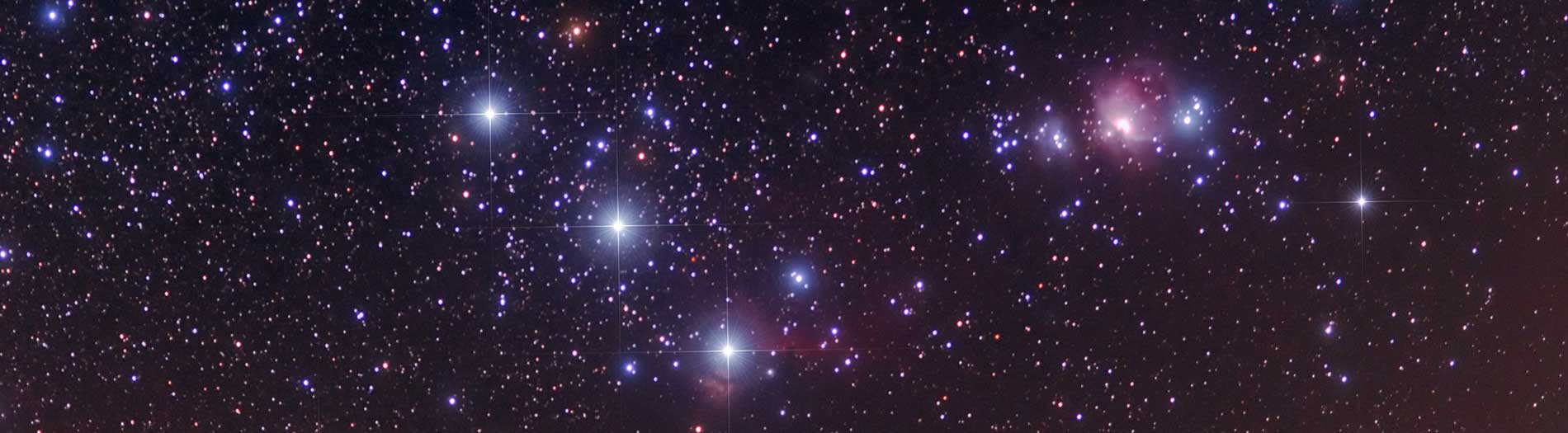 This is a photo of Orion's Belt constellation