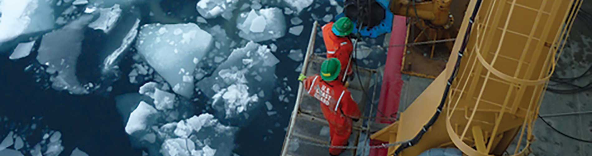 Tara Ingalsbe doesn't let ice and snow deter her from research aboard a Navy ship.