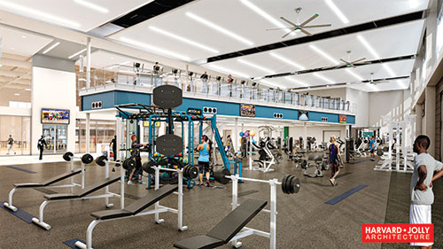 Photo of new FGCU fitness center.