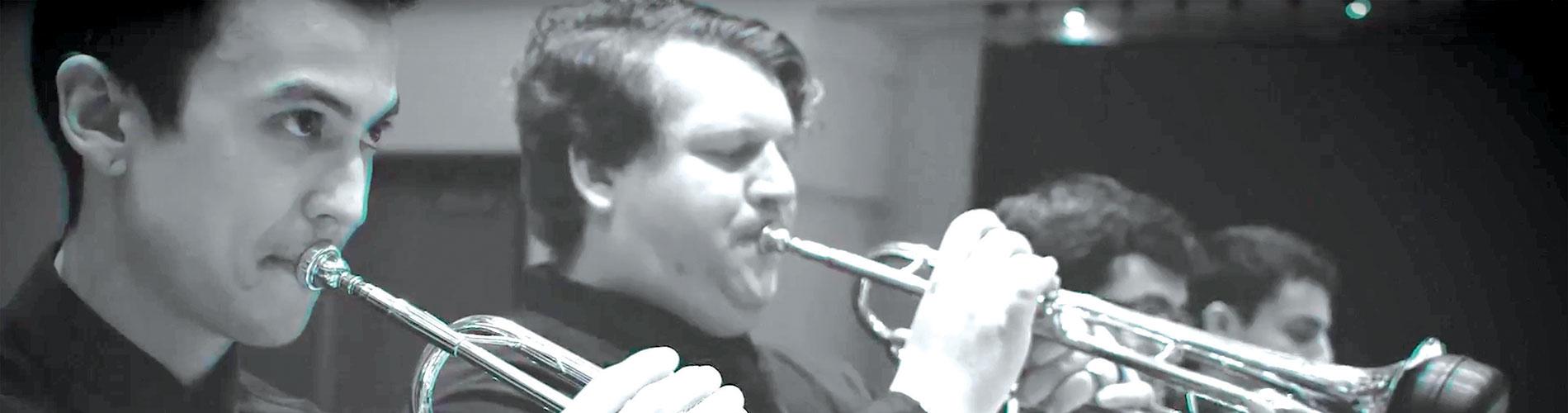 Photos of jazz horn players