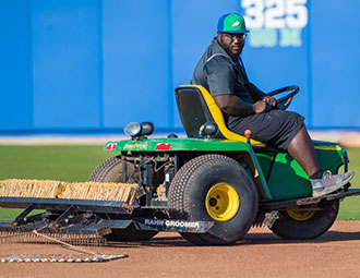 Photo shows FGCU groundskeeper