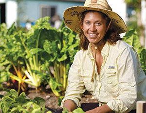 Education major finds most meaningful lessons take root in the garden
