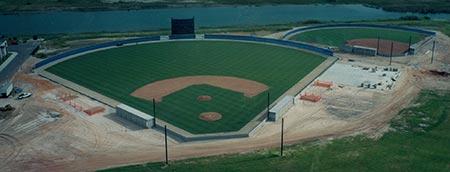 Photo of baseball field indevelopment - making progress
