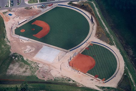 Photo of baseball field indevelopment - nearing completion