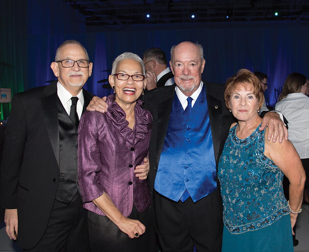 James and Glenda Llorens and President Mike and Jan Martin