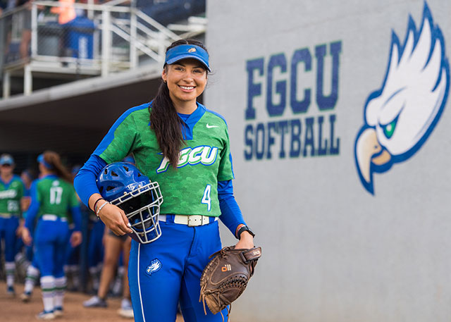 Ahnie Jumper is a catcher with the Eagles softball team