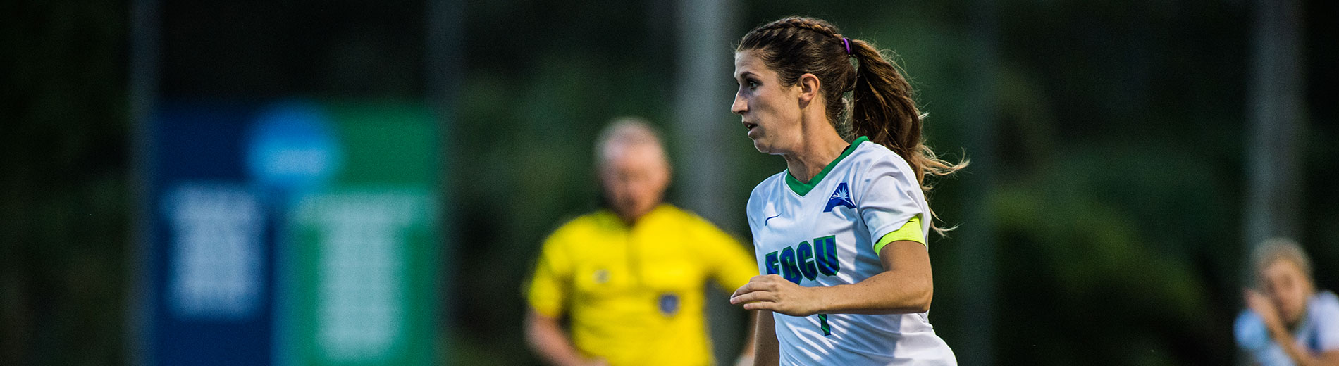 Photo shows FGCU soccer player Holly Fritz