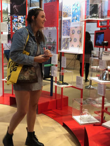 Photo shows FGCU student touring the London Design Museum.