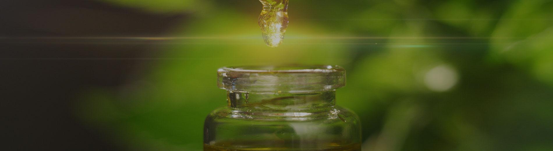 photo shows CBD oil